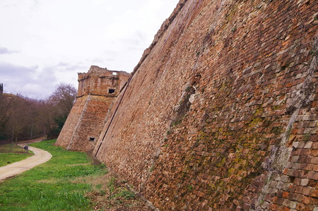 Medici Fortress of Poggio Imperiale, Poggibonsi, Tuscany, Italy Stock Photo