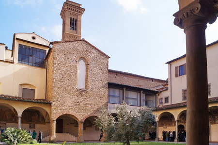 Cloister of the Cenacle of Ognissanti, Florence, Italy