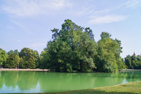 Lake in the Ducal Park of Parma, Italy