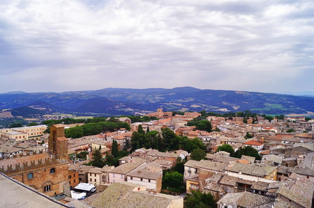 Aerial view of Orvieto, Italy