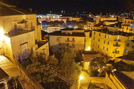 View of Salerno from the garden of Minerva, Italy