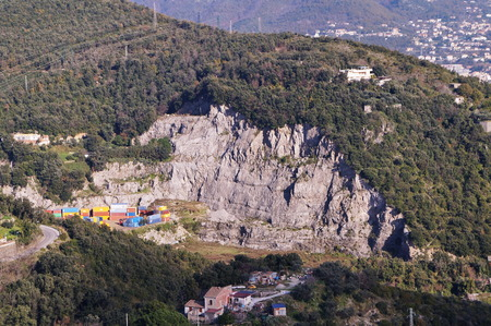 Stone quarry on the hills around Salerno, Italy Imagens