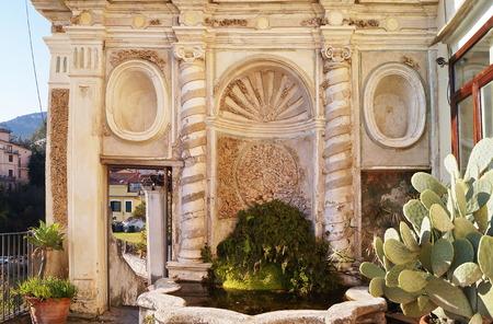Fountain in the Minerva garden, Salerno, Italy Editorial