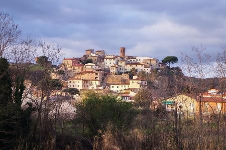Panorama of Capraia e Limite, Tuscany, Italy Stockfoto - 122512210