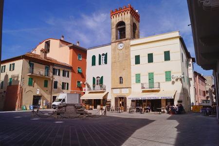 Mazzini square, Castiglione del Lago, Umbia, Italy