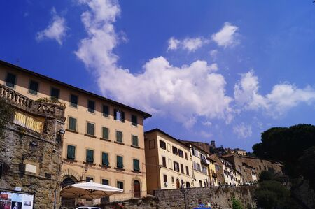 Garibaldi square, Cortona, Tuscany, Italy