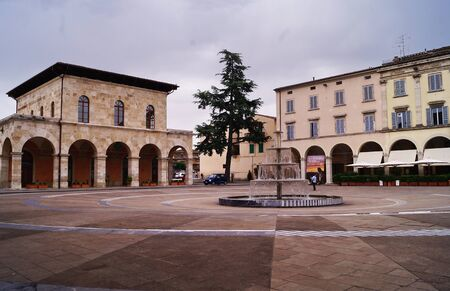 Arnolfo Di Cambio square, Colle Val d'Elsa, Tuscany, Italy Stock Photo - 132063566