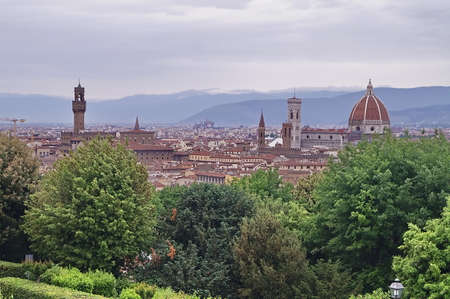 Panorama of Florence from Piazzale Michelangelo, Italy