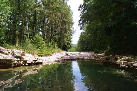 Corsalone stream in Tuscany, Italy Stock Photo
