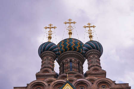 Domes of the Russian Orthodox Church of the Nativity in Florence, Italy