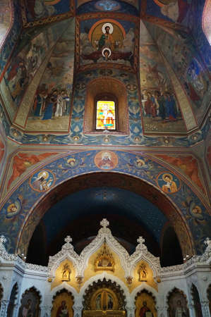 Interior of the Russian Orthodox Church of the Nativity in Florence, Italy Editorial