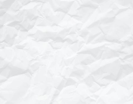 Wrinkled paper white texture Vector illustration.