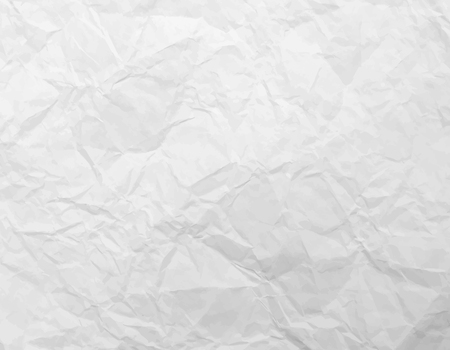 A white Wrinkled Paper Background Vector Illustration
