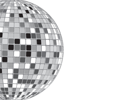 Vector Disco Ball white