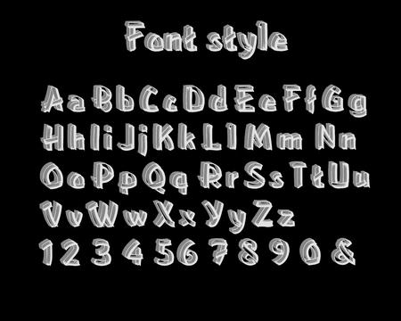 vector de diseño 3d de texto de fuente