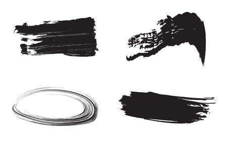 Brushes icon on black and white background