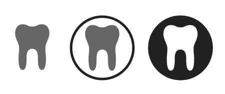 Teeth Icons set vector illustration Vettoriali