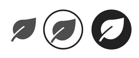 Leaves Icons set vector illustration Illustration