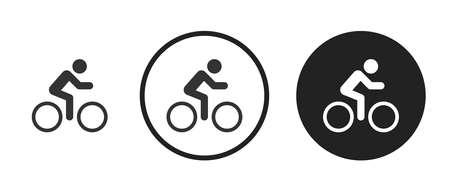 cycling Icons set vector illustration