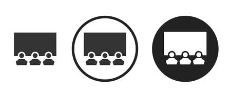 Movie & Cinema Icons set vector illustration