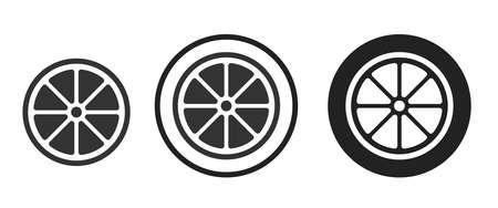 Orange Icons set vector illustration
