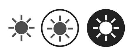 Sun Icons set vector illustration Vectores