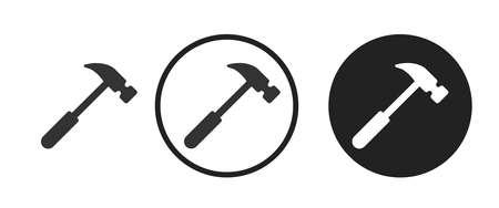 hammer Icons set vector illustration Vettoriali