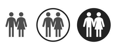 Women and men Icons set vector illustration