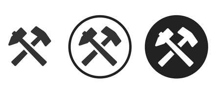hammer  Icons set vector illustration