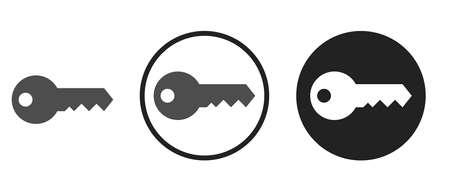 key Icons set vector illustration Vettoriali