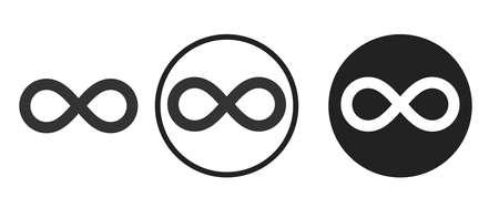 infinite Icons set vector illustration