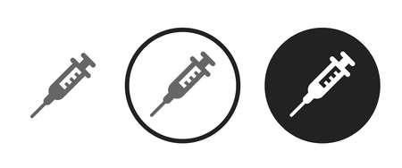 Syringe Icons set vector illustration Vettoriali