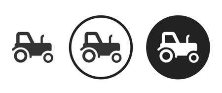 tractor Icons set vector illustration