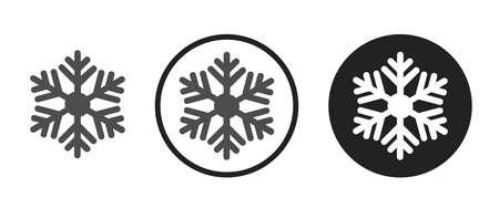 Snow Icons set vector illustration