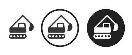backhoe Icons set vector illustration Vettoriali