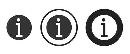 information Icons set vector illustration