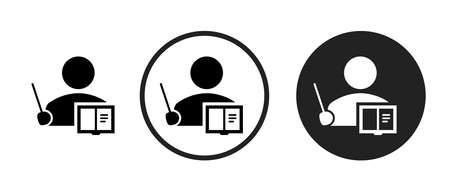 Teacher Icons set vector illustration