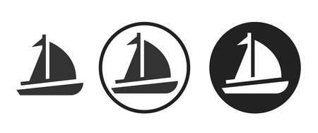sailboat Icons set vector illustration Stock Illustratie