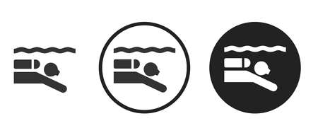 scuba Icons set vector illustration Vettoriali