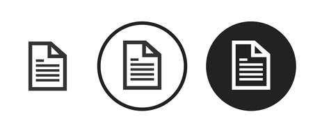 document Icons set vector illustration Vettoriali