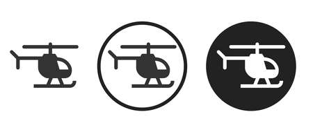 helicopter Icons set vector illustration