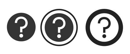 question Icons set vector illustration Stock Illustratie