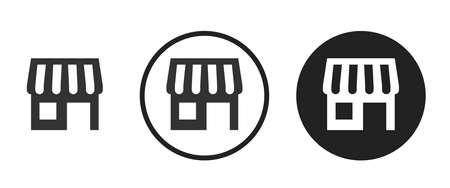 shop Icons set vector illustration Vettoriali
