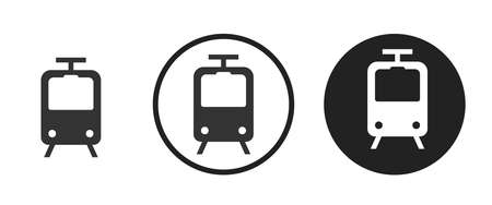 train Icons set vector illustration