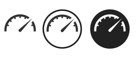 Speed Icons set vector illustration