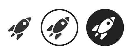 rocket Icons set vector illustration