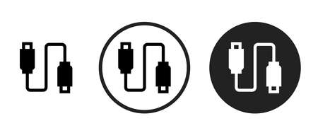 USB Icons set vector illustration