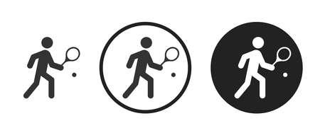 Tennis Icons set vector illustration