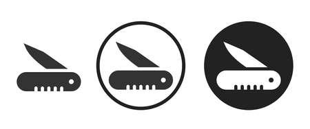 penknife Icons set vector illustration Vettoriali