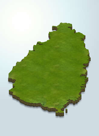 3D map illustration of St Lucia
